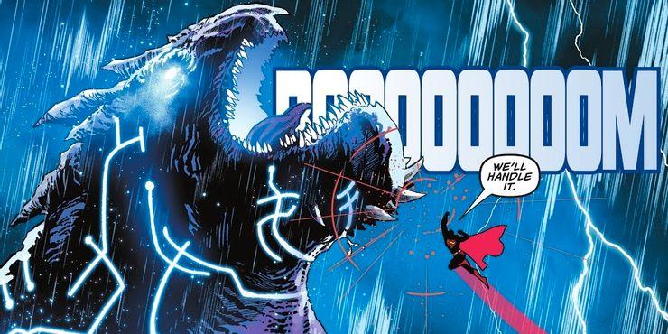 Superman-fights-a-kaiju